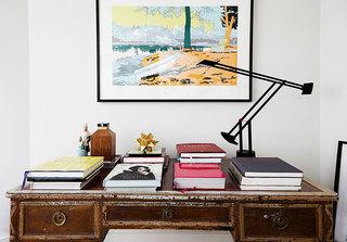 简约现代单身公寓书房平面图