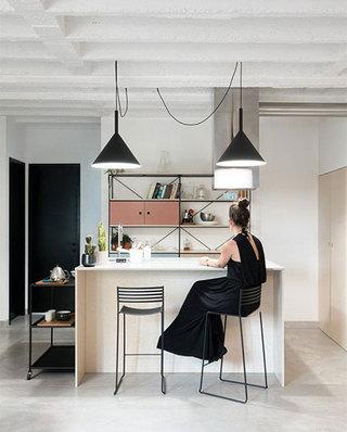 公寓旧房改造吧台效果图装修