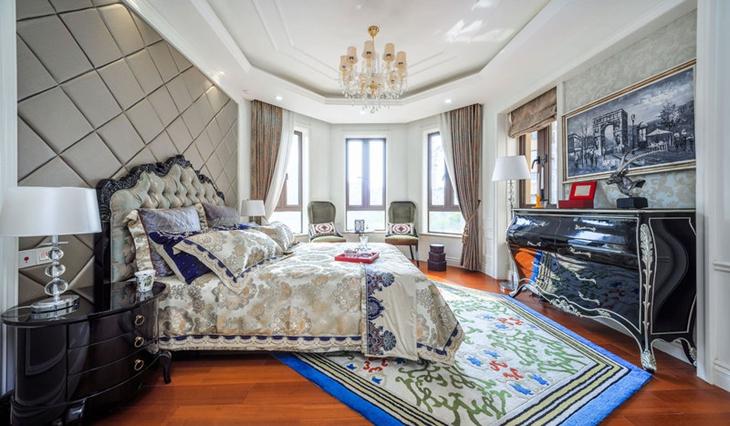 复古法式新古典卧室效果图