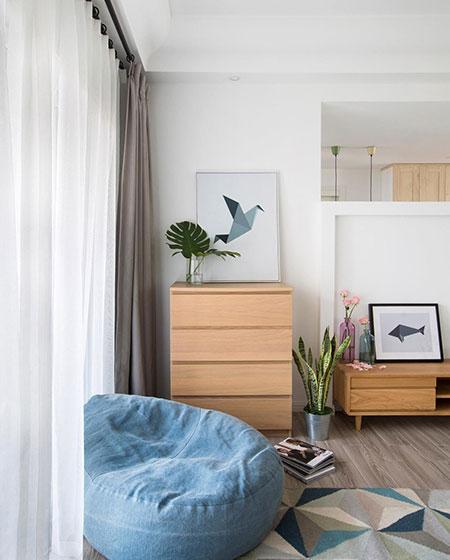 北欧风格三居室懒人沙发图片