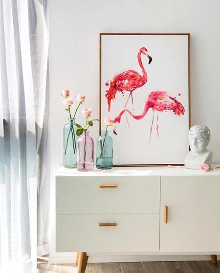 艺术简洁北欧风 展示柜照片设计