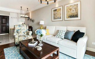 89㎡美式两居室装修装饰效果图