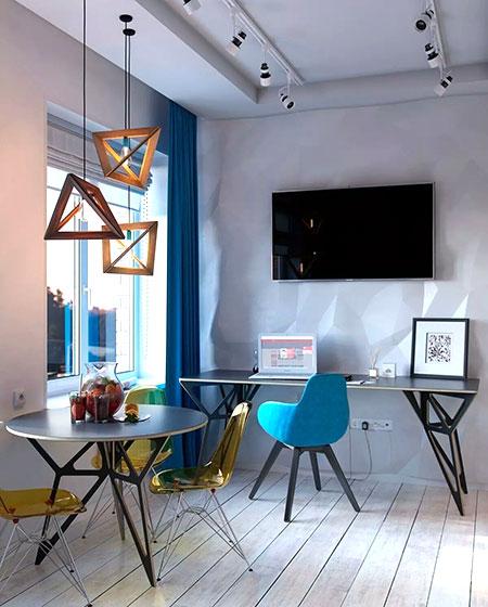 30平单身公寓餐厅装修图