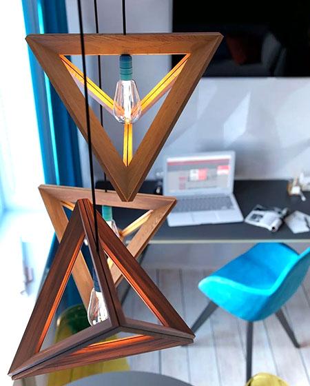 30平单身公寓创意吊灯设计图