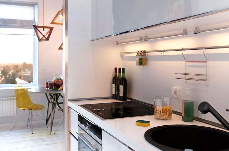 清新简洁风 厨餐厅一体设计