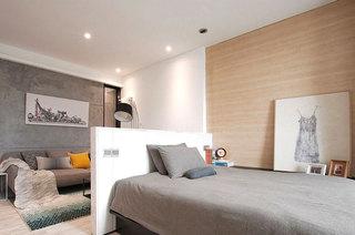 40平简约一居卧室客厅隔断图