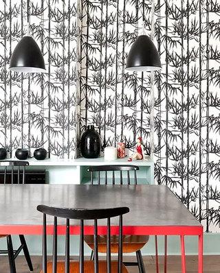90平LOFT公寓餐厅背景墙装修