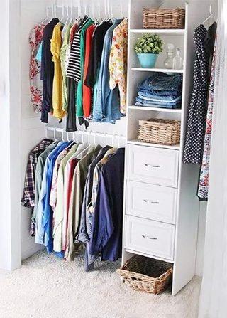 衣柜收纳设计实景图