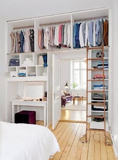 日式小户型衣柜收纳图