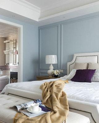 130平美式公寓卧室背景墙设计