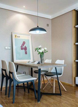 70㎡现代简约二居室餐厅图片