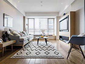 70㎡现代简约二居室效果图  清风徐来