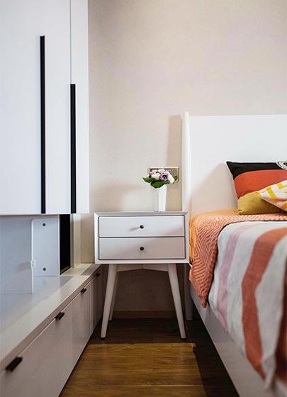 70㎡现代简约二居室卧室图片