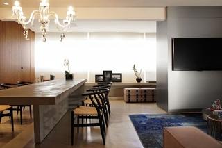 品质生活展现 极简美式风格装修餐厅效果图