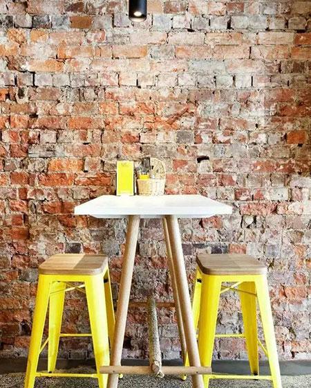 餐厅裸砖背景墙装修设计