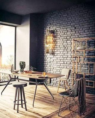 餐厅裸砖背景墙设计效果图