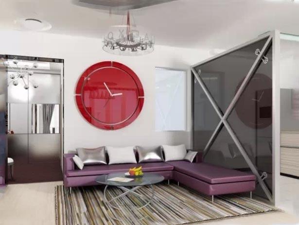 简约客厅背景墙设计图片