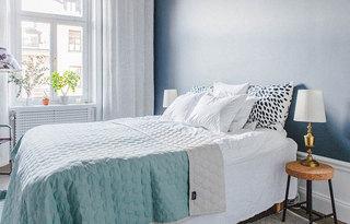 清凉简约北欧风卧室装潢图