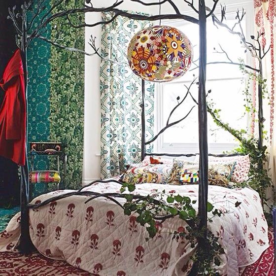 波西米亚风格卧室布置平面图