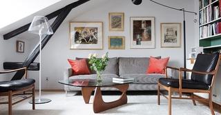 北欧风格阁楼客厅效果图