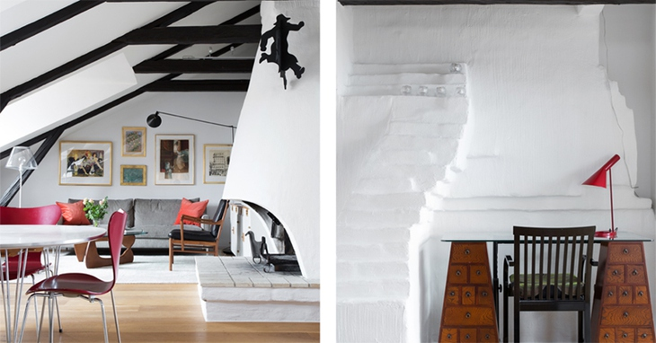 北欧风格阁楼楼梯装修设计