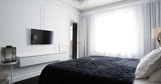 北欧风格公寓卧室床品图片大全