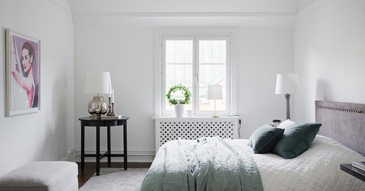 纯白简洁北欧风卧室效果图