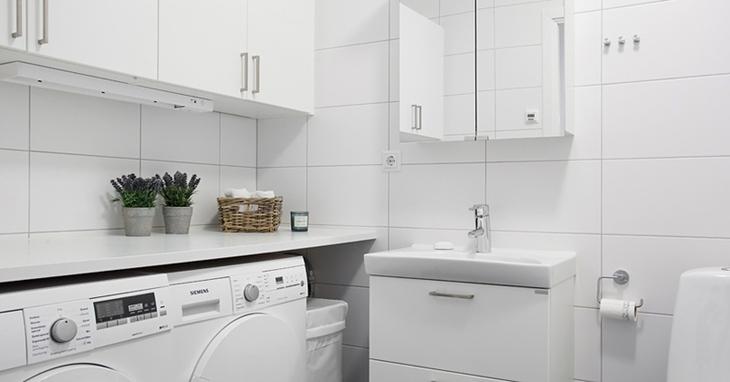 北欧风格三居室洗衣房装潢图