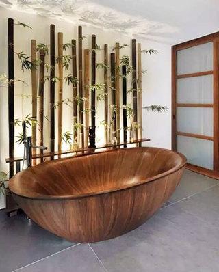 中式风格卫生间浴缸图片