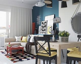惊艳旧房改造 让室内更多一些时尚气息客厅效果图