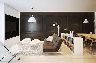 60平简约风格公寓效果图