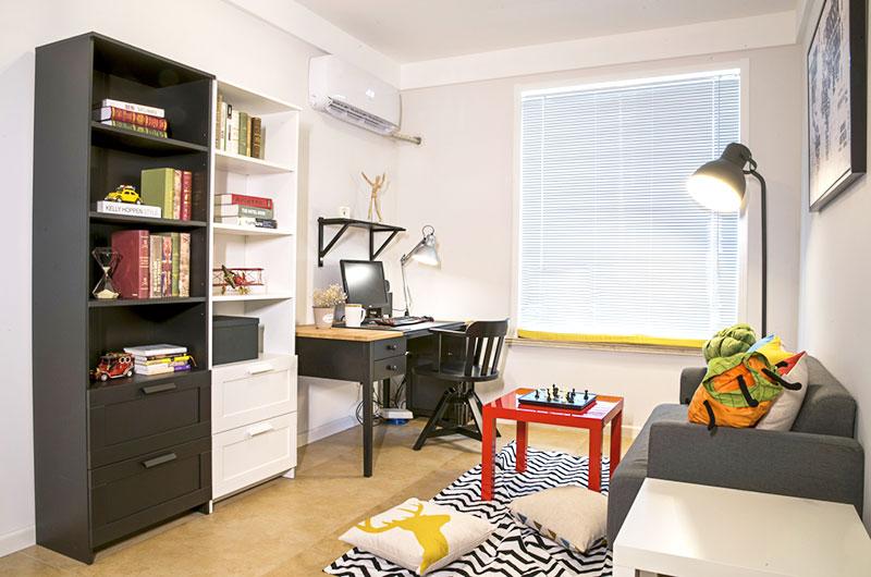 169平北欧三居室开放式书房装修_齐家网装修效果图图片