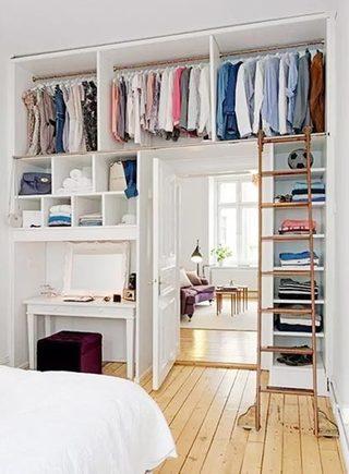 卧室衣柜收纳设计装饰图