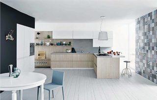 休闲厨房装饰平面图