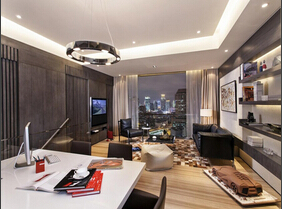 黄浦江畔的豪宅 用品质演绎精致简约风格