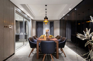 160平简约三居餐厅装潢设计