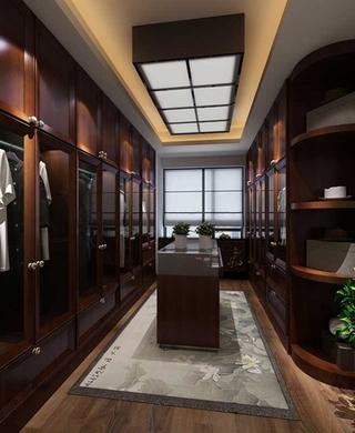 雅致新中式风格 装饰奢华三居室装修衣帽间设计