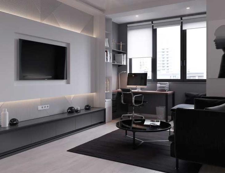 简约主义客厅 电视背景墙设计