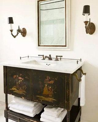 中式风格卫生间台盆设计
