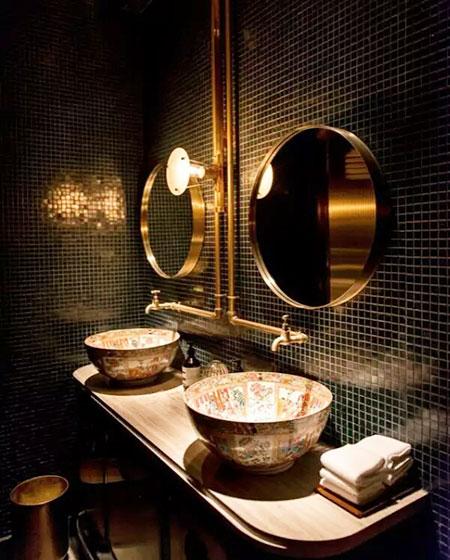 中式风格卫生间洗手台设计图