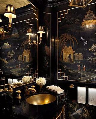 中式风格卫生间装潢图