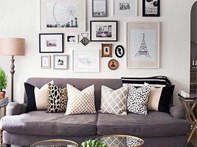无聊中添色彩  10个装饰画背景墙效果图