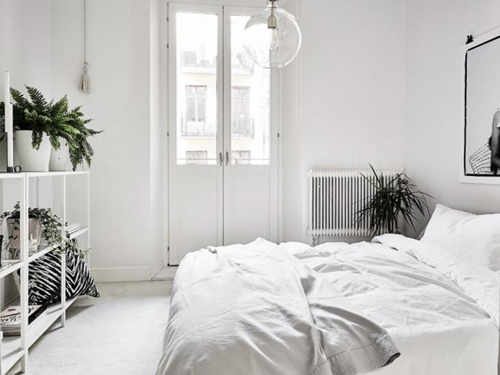 纯白明亮简洁卧室装饰效果图