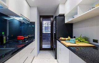 53平混搭风公寓厨房效果图