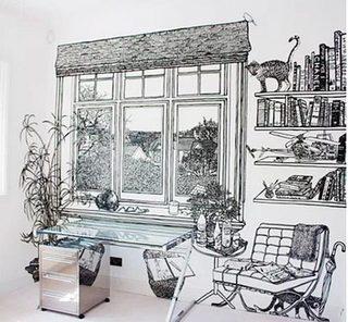 客厅手绘背景墙装修图片大全