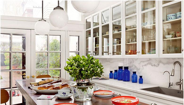 美式厨房白色吊柜设计图