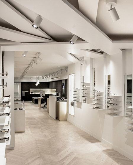 时尚眼镜店装潢设计效果图