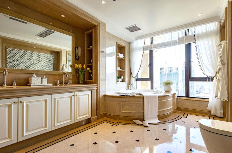 美式风格跃层装修主卫生间图片