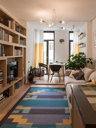 搭积木式小户型设计 让家温暖起来小客厅效果图