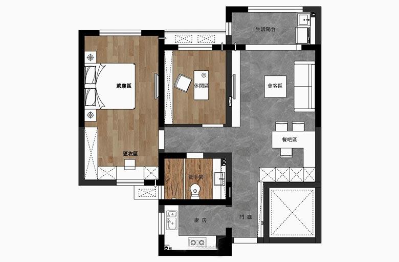 二居室100平米设计图纸
